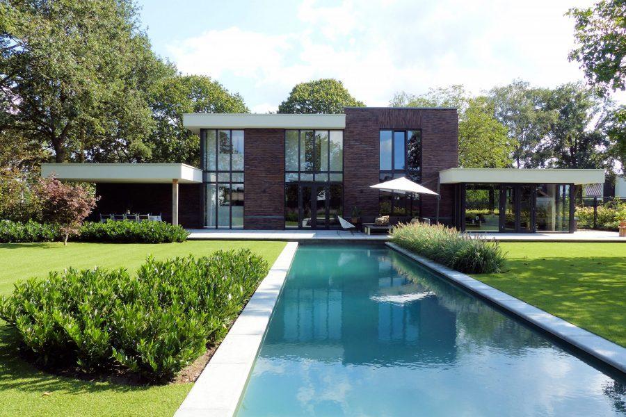 luxe kubistische woning met zwembad