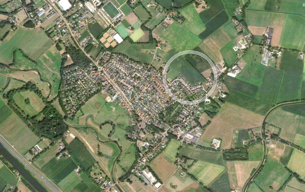Luchtfoto bouwen in middelrode