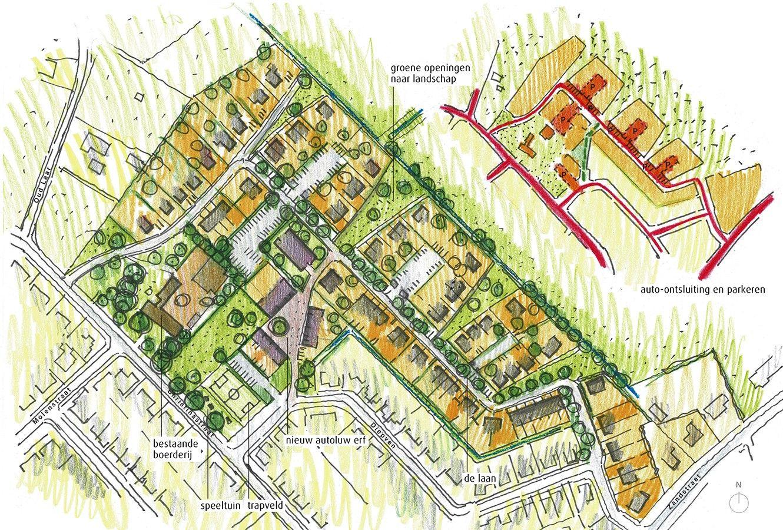 plattegrond bouwkavels in Middelrode
